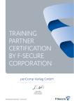 F-Secure Tarining Partner Zertifikat