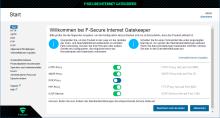 Screenshot F-Secure Internet Gatekeeper für Linux