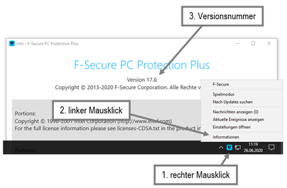 PC Protection Versionsnummer