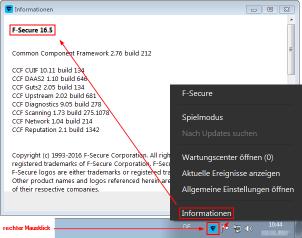 PC Protection Versionsnummer - Klicken zum Vergrößern