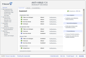 Screenshot F-Secure Anti-Virus für Microsoft Exchange
